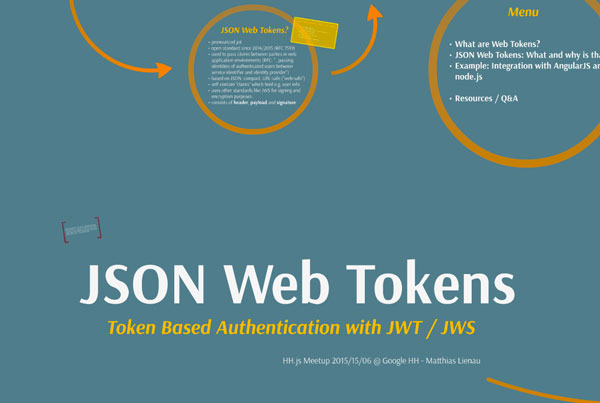 Token based authentication with JWT